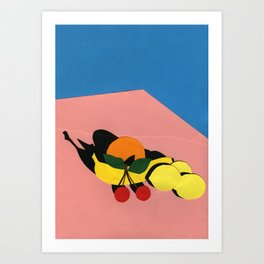 Fruits On The Table Art Print