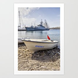 When I Grow Up I Want To Be A Warship Art Print