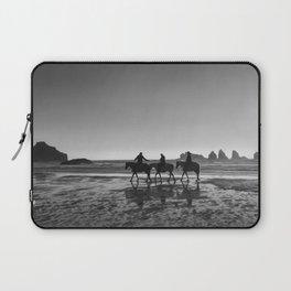 Horseback Storytelling Black and White Laptop Sleeve