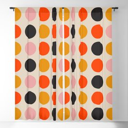 Retro Bauhaus Dots | 70s European Pattern Blackout Curtain