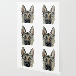 Shepard Dog illustration original painting print Wallpaper