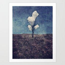Tree Clouds Art Print