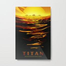 Vintage poster - Titan Metal Print