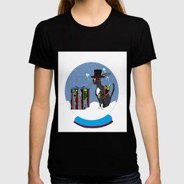 A Snow Globe with a Steampunk Kitty T-shirt