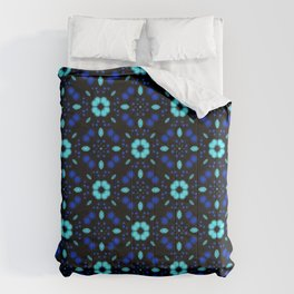 Bold Bloom | No. 1 | Floral Repeat Pattern Comforters