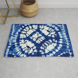 South Seas Samoa Shibori Tie Dye Rug