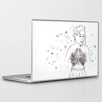 lungs Laptop & iPad Skins featuring Lungs by Sarah Hartnell