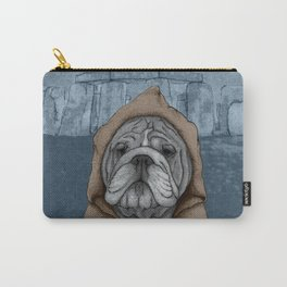 English Bulldog in Stonehenge Carry-All Pouch