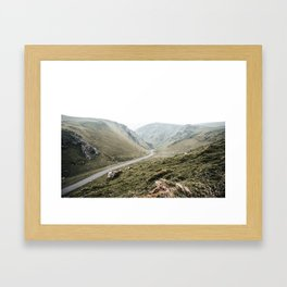 view of Winnats Pass Framed Art Print