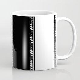 Greek Key 2 - White and Black Coffee Mug