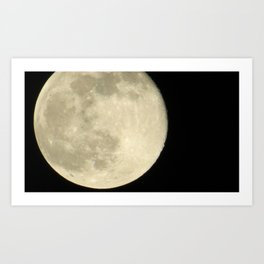 Zoom to the moon Art Print