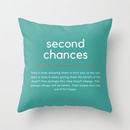 Second Chances Throw Pillow