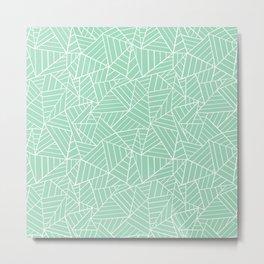 Ab Lines New 2 Mint Green Metal Print