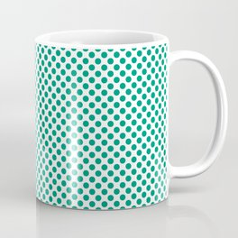 Emerald Polka Dots Coffee Mug