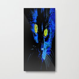 Marley The Cat Portrait With Striking Yellow Eyes Metal Print