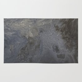 Stormy Night Waves Rug