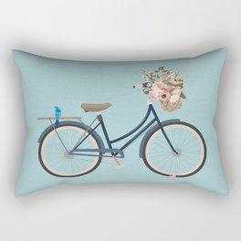 Vintage Navy Bicycle Rectangular Pillow