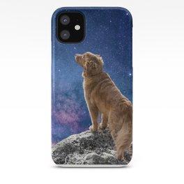 Digital Collage: Dog in Twilight iPhone Case
