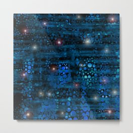Abstract Starry Night Peace Metal Print