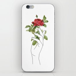 Flower in the Hand iPhone Skin