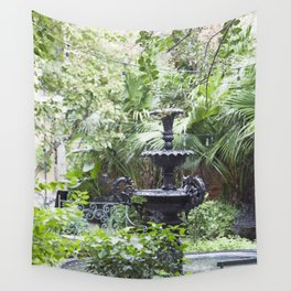New Orleans Cafe Fountain Wall Tapestry