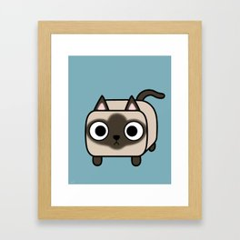 Cat Loaf - Siamese Kitty with Crossed Eyes Framed Art Print