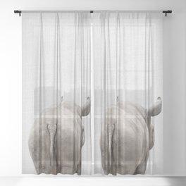 Rhino Tail - Colorful Sheer Curtain