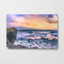 Sunset of the Bay of Biscay Metal Print