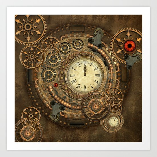 Steampunk, clockwork Art Print