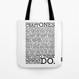 Here's To The Crazy Ones - Steve Jobs Tote Bag