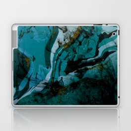 Pacific Ocean Ink Fluid Laptop & iPad Skin