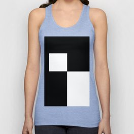Black and White Color Block #2 Unisex Tank Top