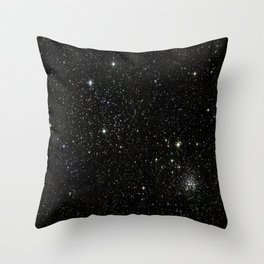 Space - Stars - Starry Night - Black - Universe - Deep Space Throw Pillow
