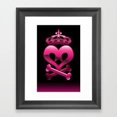 Emo heart Framed Art Print