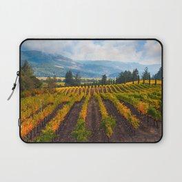Autumn Vineyard Vista Laptop Sleeve