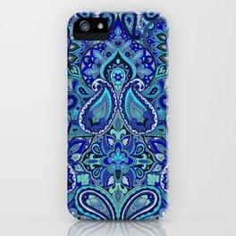 Paisley Blue iPhone Case