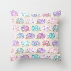 Hedgehog polkadot Throw Pillow
