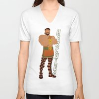 hercules V-neck T-shirts featuring Hercules by Young Jake