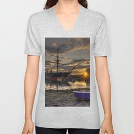 Warrior Sunset Unisex V-Neck