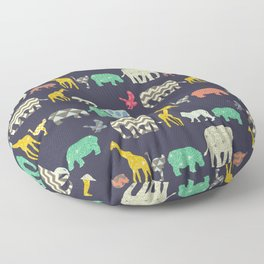geo zoo Floor Pillow