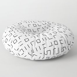 Code Breaker - Abstract, black and white, minimalist artwork Floor Pillow