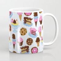 dessert Mugs featuring Dessert Pattern by Julia Emiliani