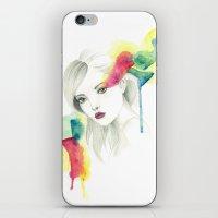gemma iPhone & iPod Skins featuring Gemma Ward by Simona Borstnar