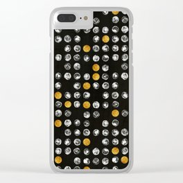 Full Moon Gold Binary Pattern Clear iPhone Case