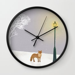 Snow and Lamp | Miharu Shirahata Wall Clock