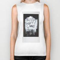 sleep Biker Tanks featuring Sleep by Whatever Mom