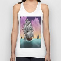 ships Tank Tops featuring Rigged Ships by Yoly B. / Faythsrequiem