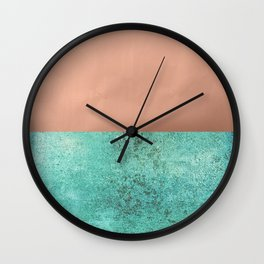NEW EMOTIONS - ROSE & TEAL Wall Clock