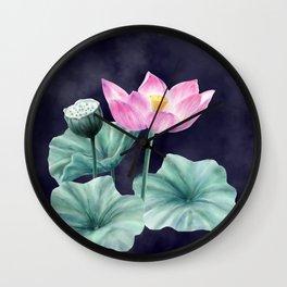 Fairyland Lotus Wall Clock