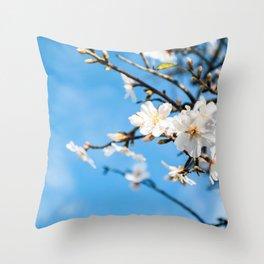 Spring Cherry trees Throw Pillow